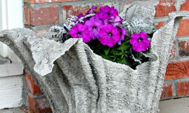 Kerti virág kaspó - saját kezűleg!