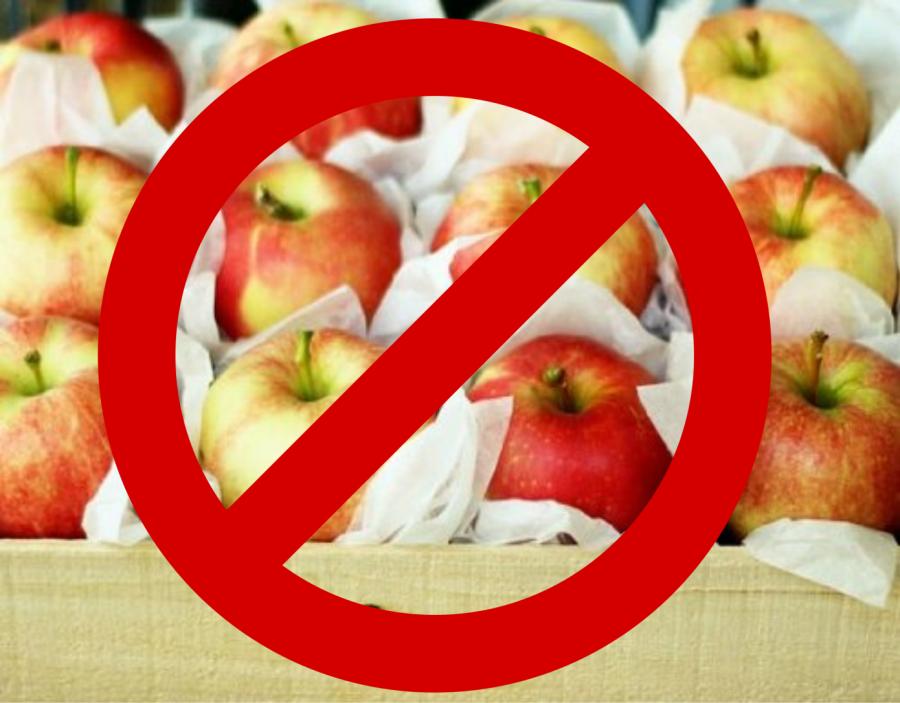 Ne így tárold az almát!