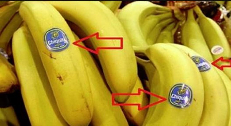 Mindenképpen nézd meg a banánon lévő címkét!