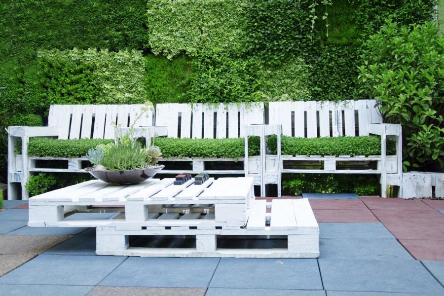 Csináld magad raklapbútorok a kertbe